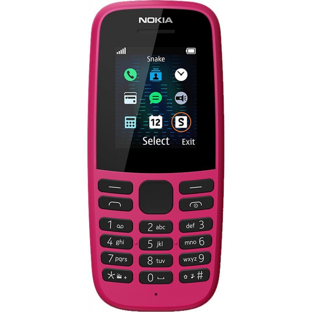 Мобильный телефон Nokia 105 DS 2019 Pink (16KIGP01A01)
