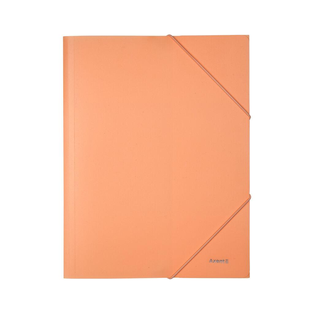 Папка на резинках Axent A4 430 мкм Pastelini peach (1504-42-A)