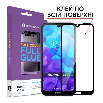 Стекло защитное MakeFuture Huawei Y5 2019 Full Cover Full Glue (MGF-HUY519)
