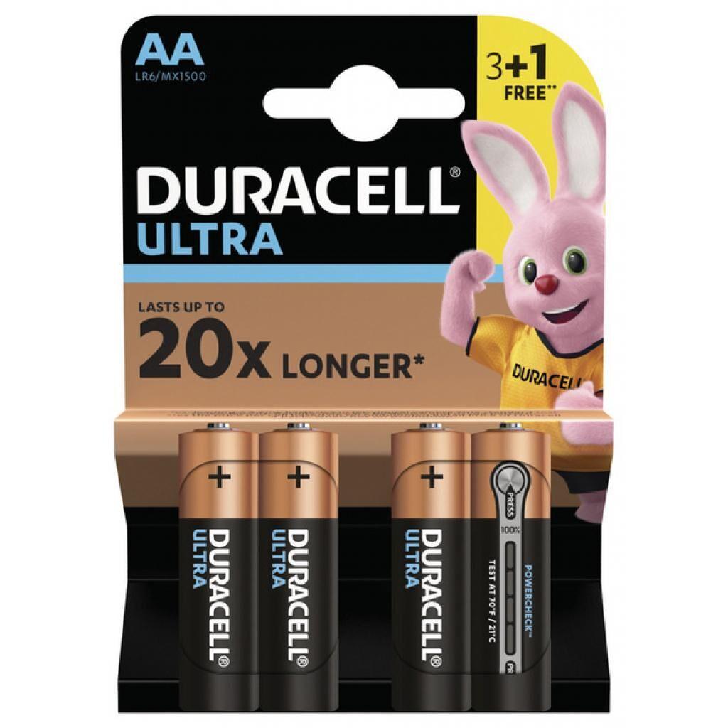 Батарейка Duracell AA Ultra MN1500 LR06 * (3+1) 4 (5005817)