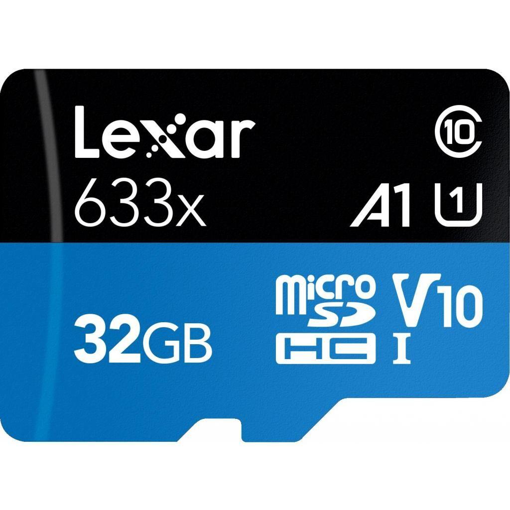Карта памяти Lexar 32GB microSDHC class 10 UHS-I 633x (LSDMI32GBB633A)