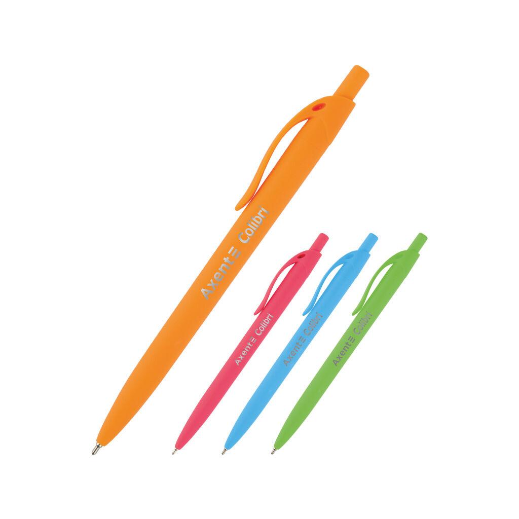 Ручка масляная Axent Сolibri автоматическая Синяя 0.7 мм (AB1062-02-A)
