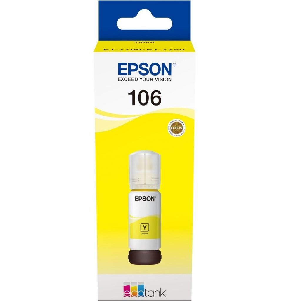 Контейнер с чернилами EPSON 106 yellow (C13T00R440)
