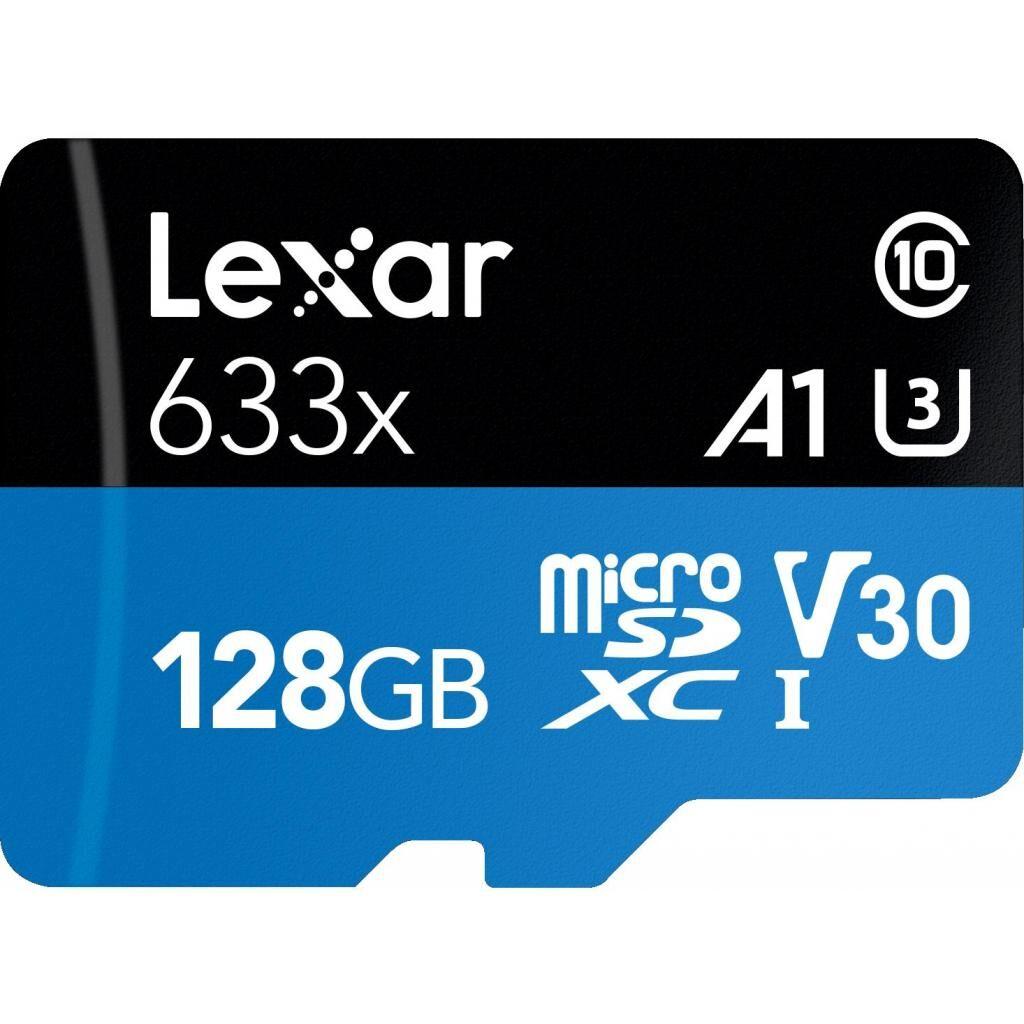 Карта памяти Lexar 128GB microSDXC class 10 UHS-I 633x (LSDMI128BB633A)