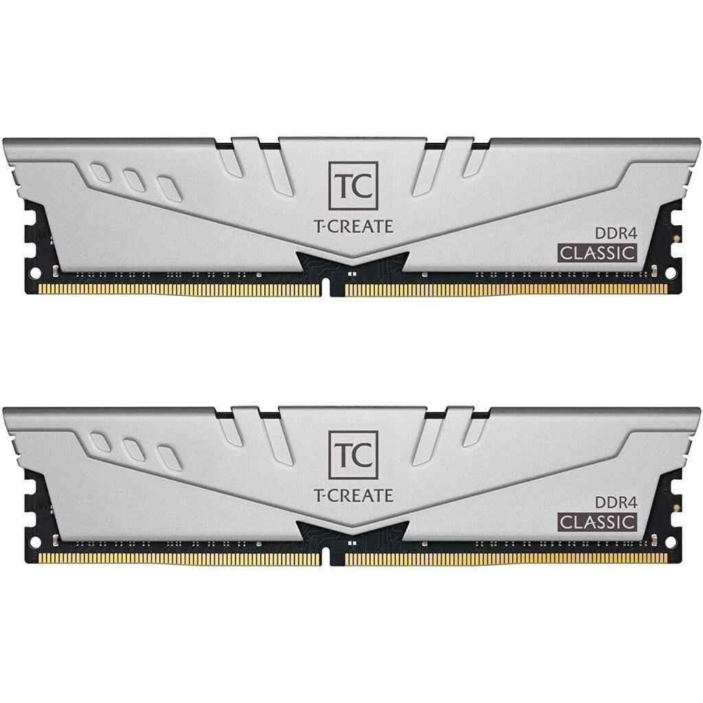 Модуль памяти для компьютера DDR4 16GB (2x8GB) 2666 MHz T-Create Classic 10L Gray Team (TTCCD416G2666HC19DC01)