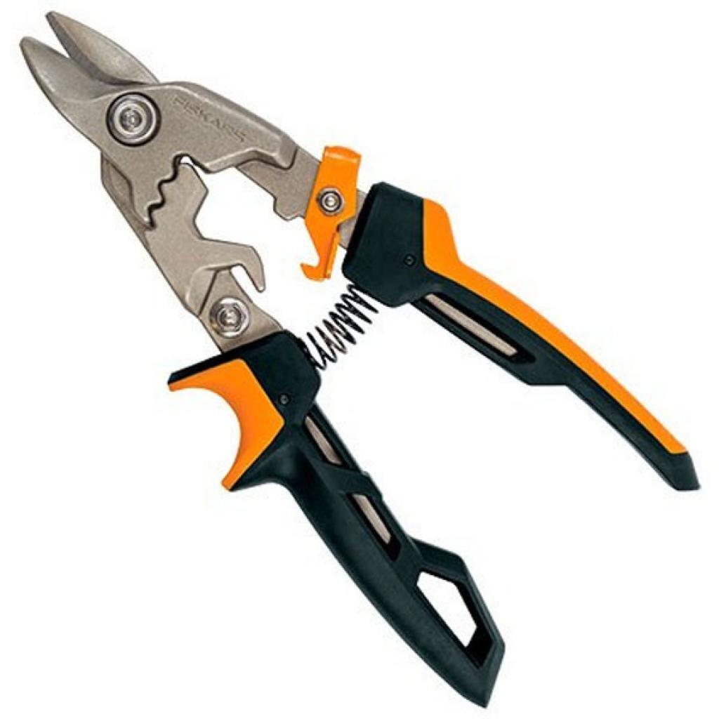 Ножницы по металлу Fiskars PowerGear Aviation Snip Bulldog (1027212) (1027212)