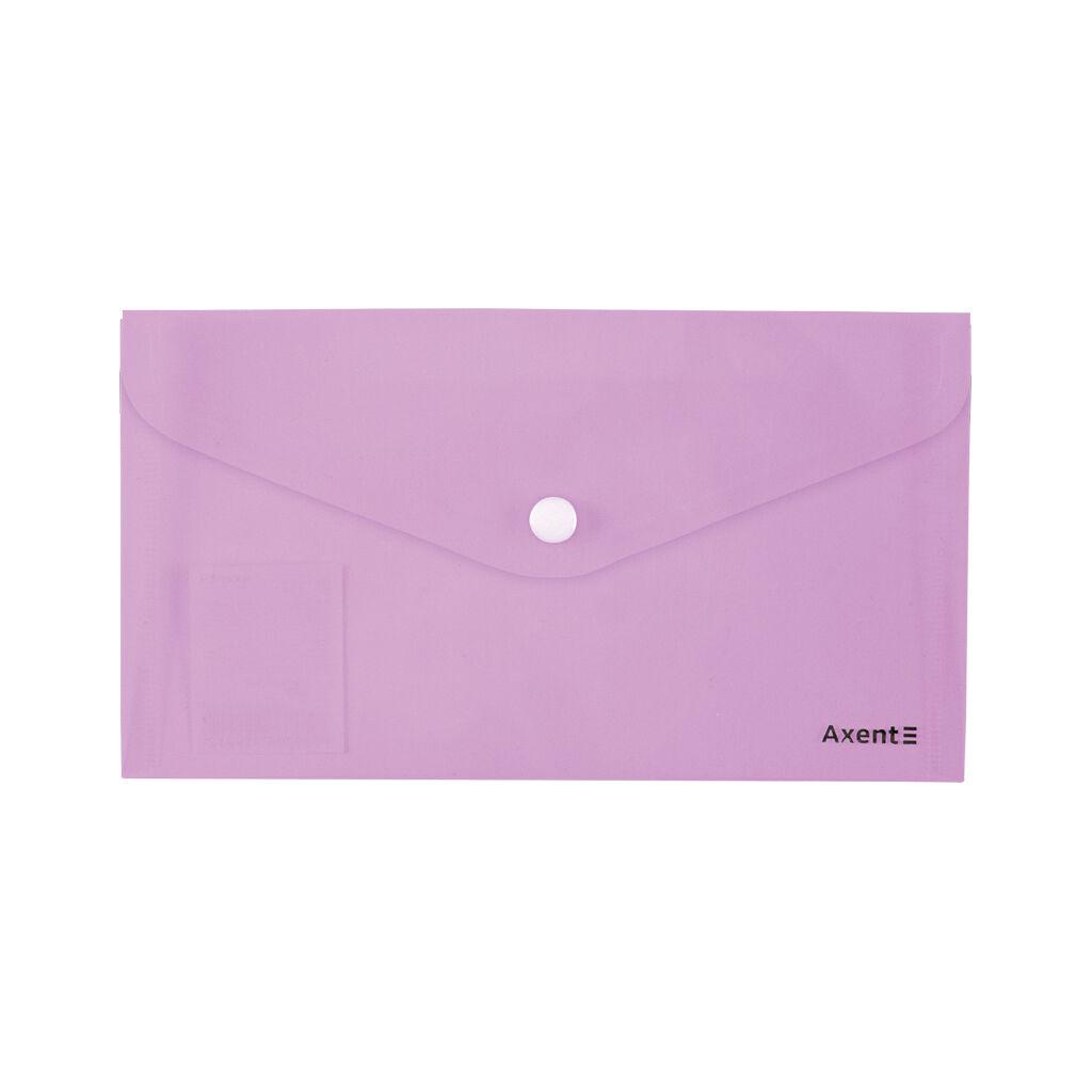 Папка - конверт Axent DL 180мкм Pastelini Сиреневая (1414-36-A)