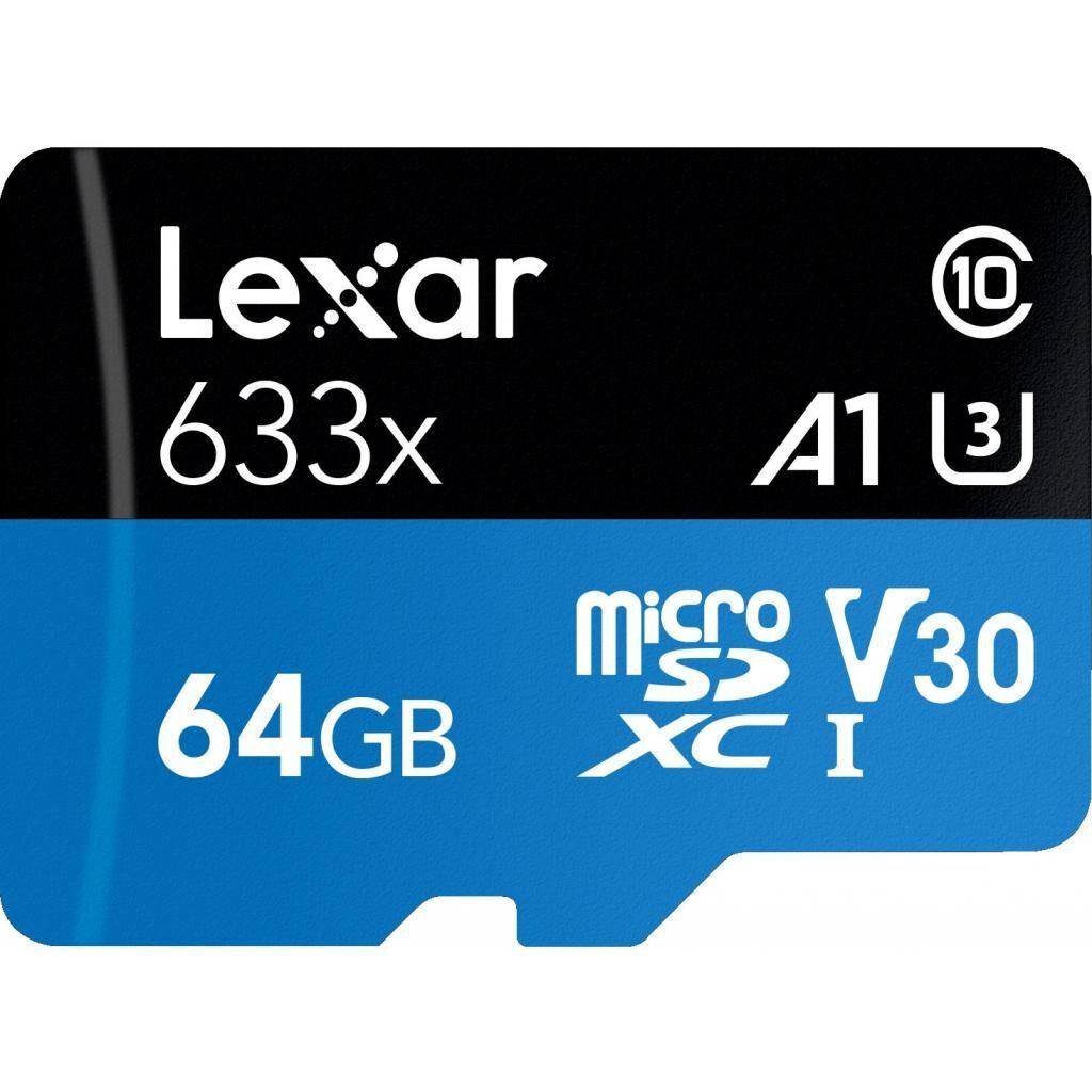 Карта памяти Lexar 64GB microSDXC class 10 UHS-I 633x (LSDMI64GBB633A)