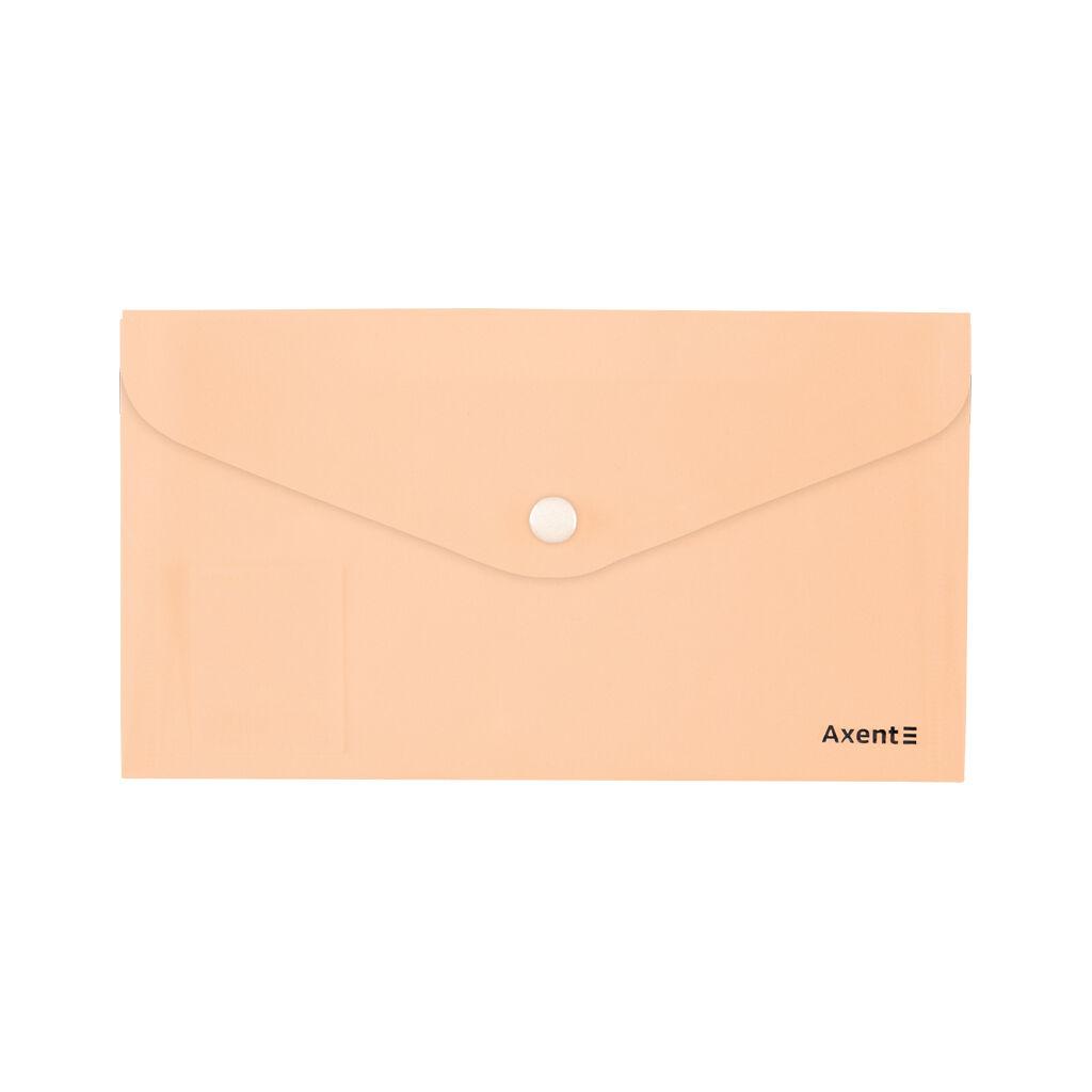 Папка - конверт Axent DL 180мкм Pastelini Персиковая (1414-42-A)