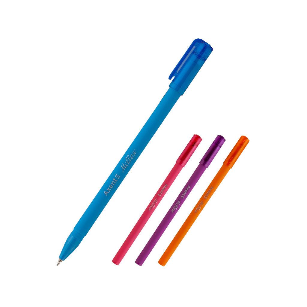 Ручка масляная Axent Mellow Синяя 0.7 мм (AB1064-02-A)