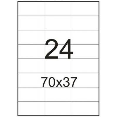 Этикетка самоклеящаяся TAMA 70*37 (24 на листе) A4 500 листов (12756)