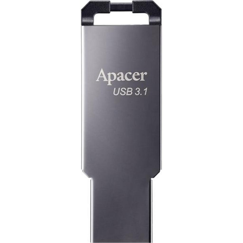 USB флеш накопитель Apacer 64GB AH360 Ashy USB 3.1 Gen1 (AP64GAH360A-1)