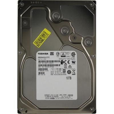 Жесткий диск для сервера TOSHIBA 3.5'' 10TB 256MB 7.2K RPM SATA 6Gb/s (MG06ACA10TE)