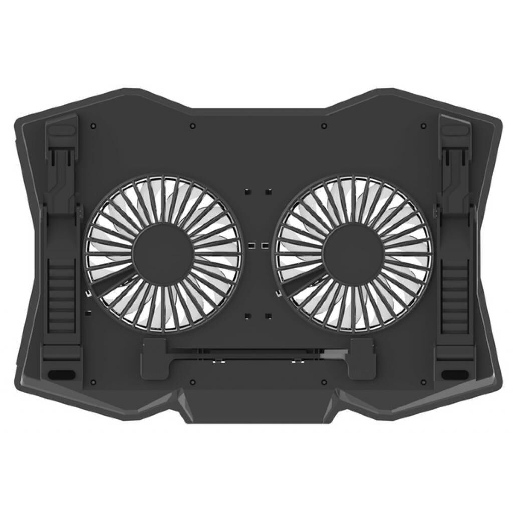 Подставка для ноутбука OMEGA Laptop COOLING PAD 2 fans BLACK [45425] (OMNCP2FB)