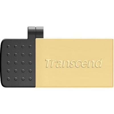 USB флеш накопитель Transcend 32GB On-The-Go Gold USB 2.0 (TS32GJF380G)