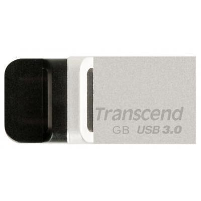 USB флеш накопитель Transcend 32GB JetFlash OTG 880 Metal Silver USB 3.0 (TS32GJF880S)