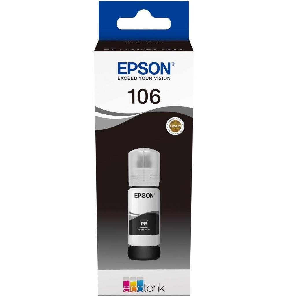 Контейнер с чернилами EPSON 106 black (C13T00R140)