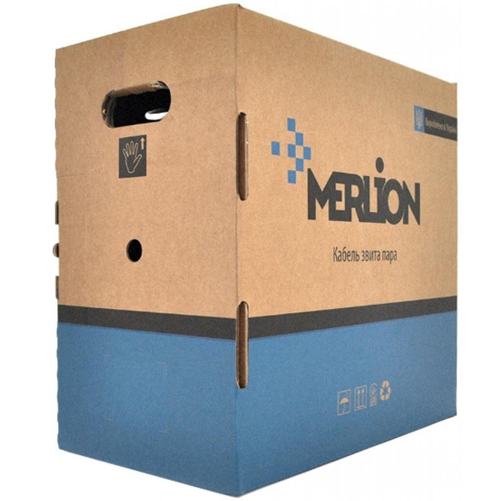 Кабель сетевой Merlion UTP 305м, cat 5e, CU, 4*2*0,48мм, ПВХ, indoor (КПВ-ВП (100) 4*2*0,48 / 17382)