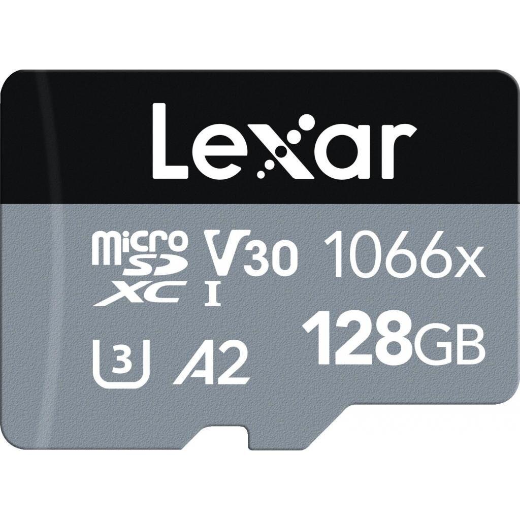 Карта памяти Lexar 128GB microSDXC class 10 UHS-I 1066x Silver (LMS1066128G-BNANG)