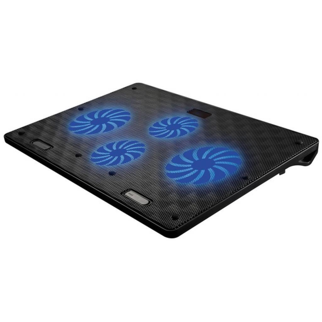 Подставка для ноутбука OMEGA Laptop COOLING PAD 4 fans BLACK [45424] (OMNCP4FB)