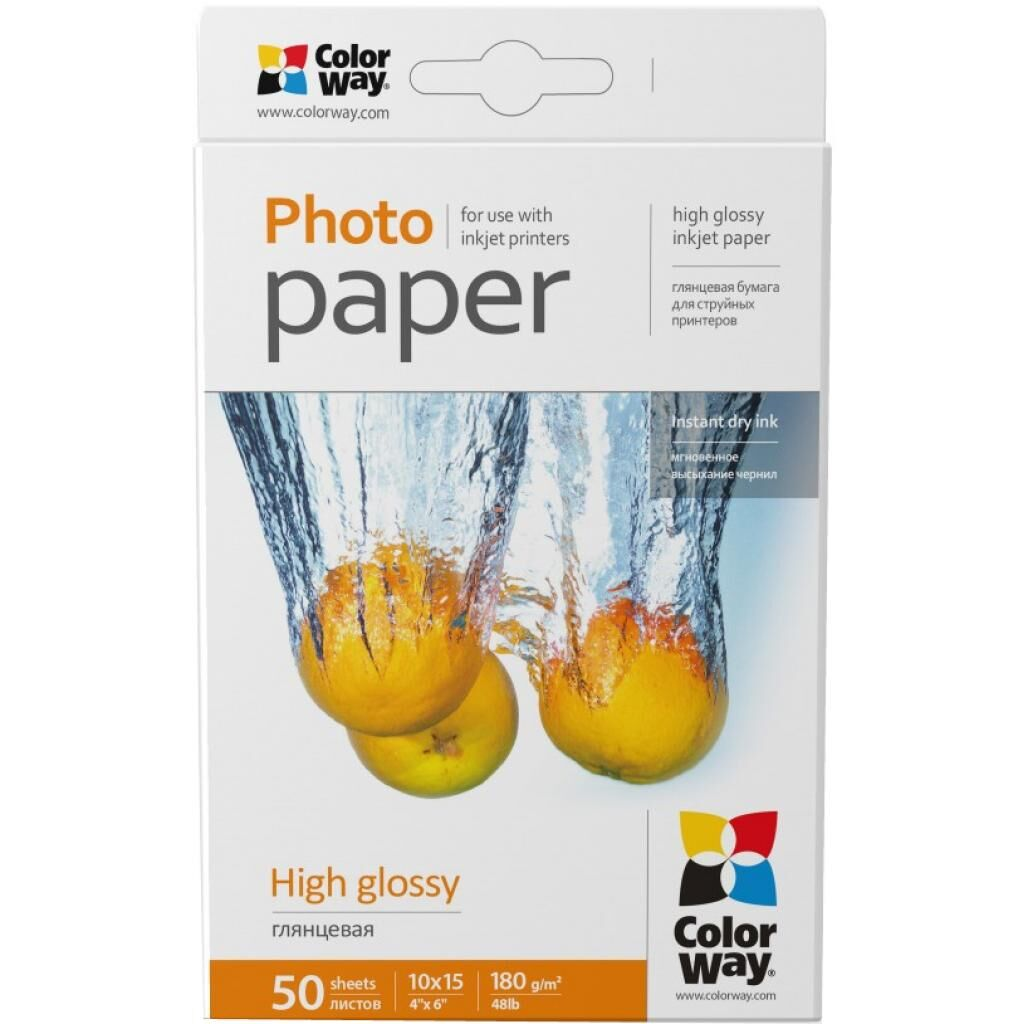 Бумага ColorWay 10x15 (PG1800504R)
