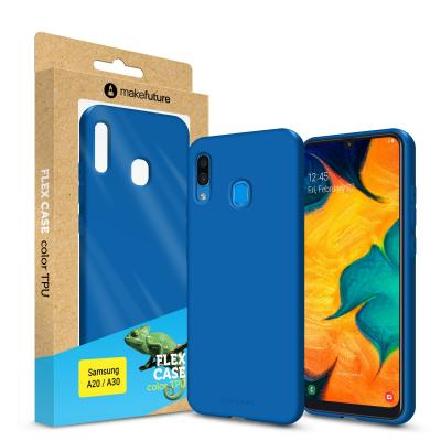 Чехол для моб. телефона MakeFuture Flex Case (Soft-touch TPU) Samsung A20/A30 Blue (MCF-SA205BL)
