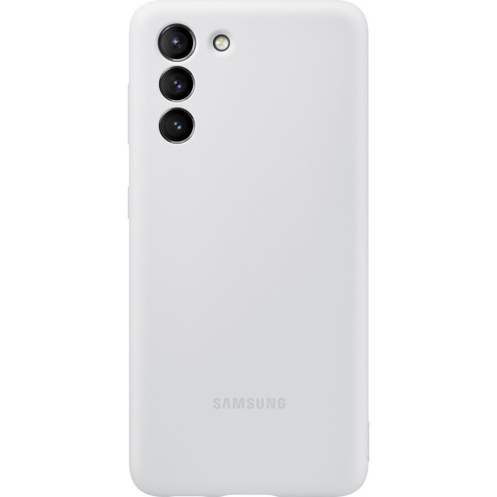 Чехол для моб. телефона Samsung Silicone Cover Samsung Galaxy S21 Light Gray (EF-PG991TJEGRU)