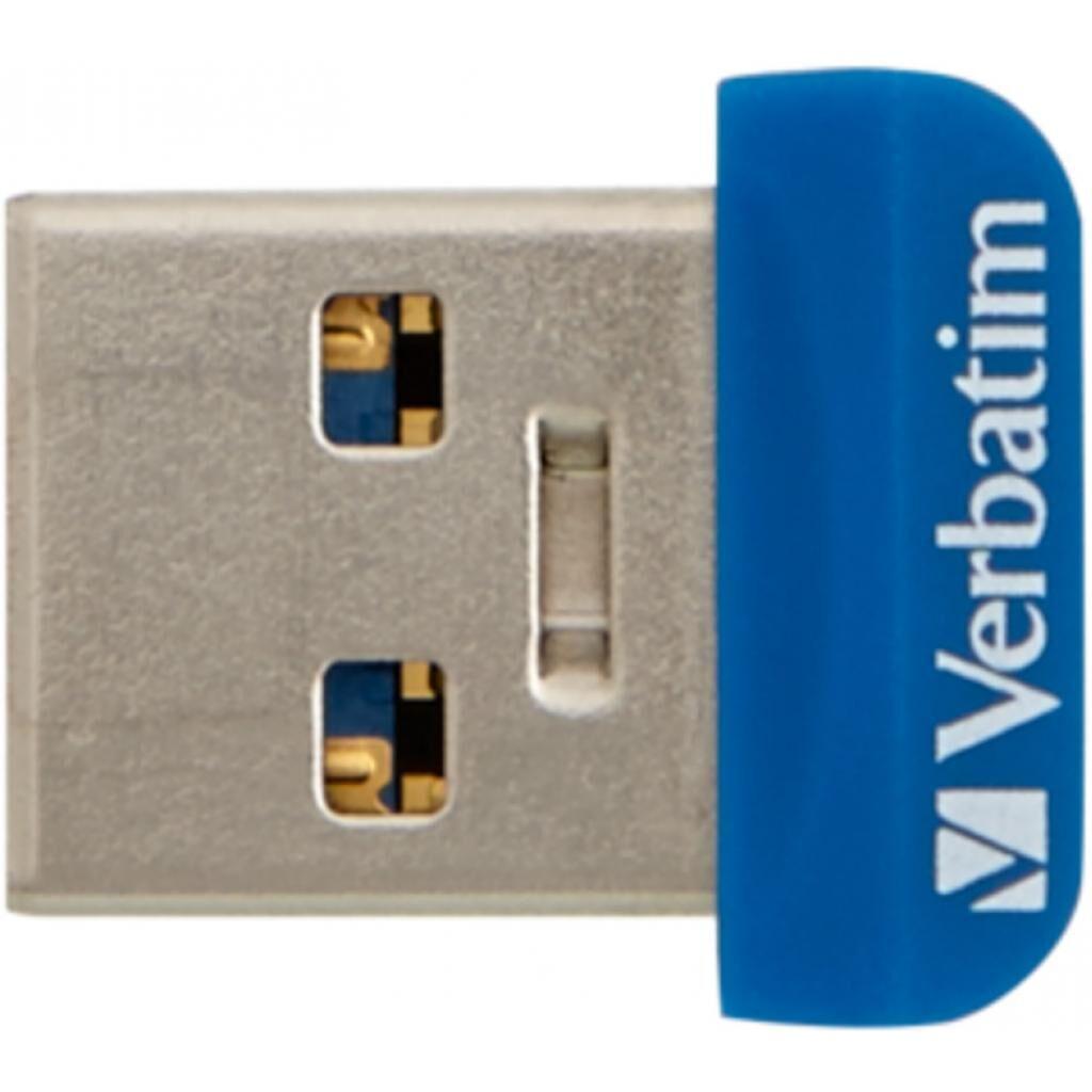 USB флеш накопитель Verbatim 64GB Store 'n' Stay NANO Blue USB 3.0 (98711)