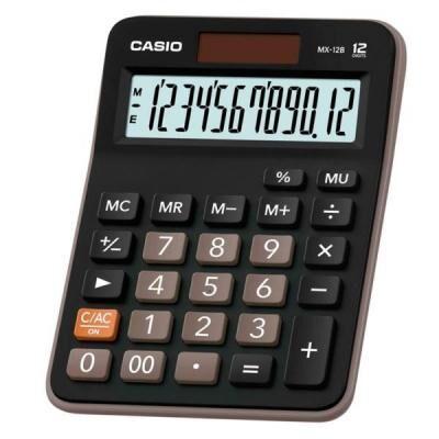 Калькулятор Casio MX-12B-W-EC черный (MX-12B-W-EC)
