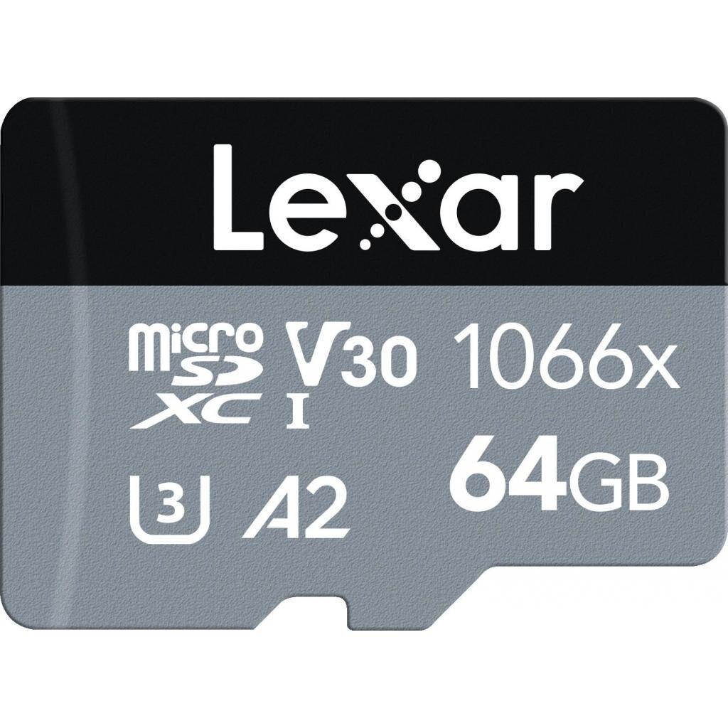 Карта памяти Lexar 64GB microSDXC class 10 UHS-I 1066x Silver (LMS1066064G-BNANG)