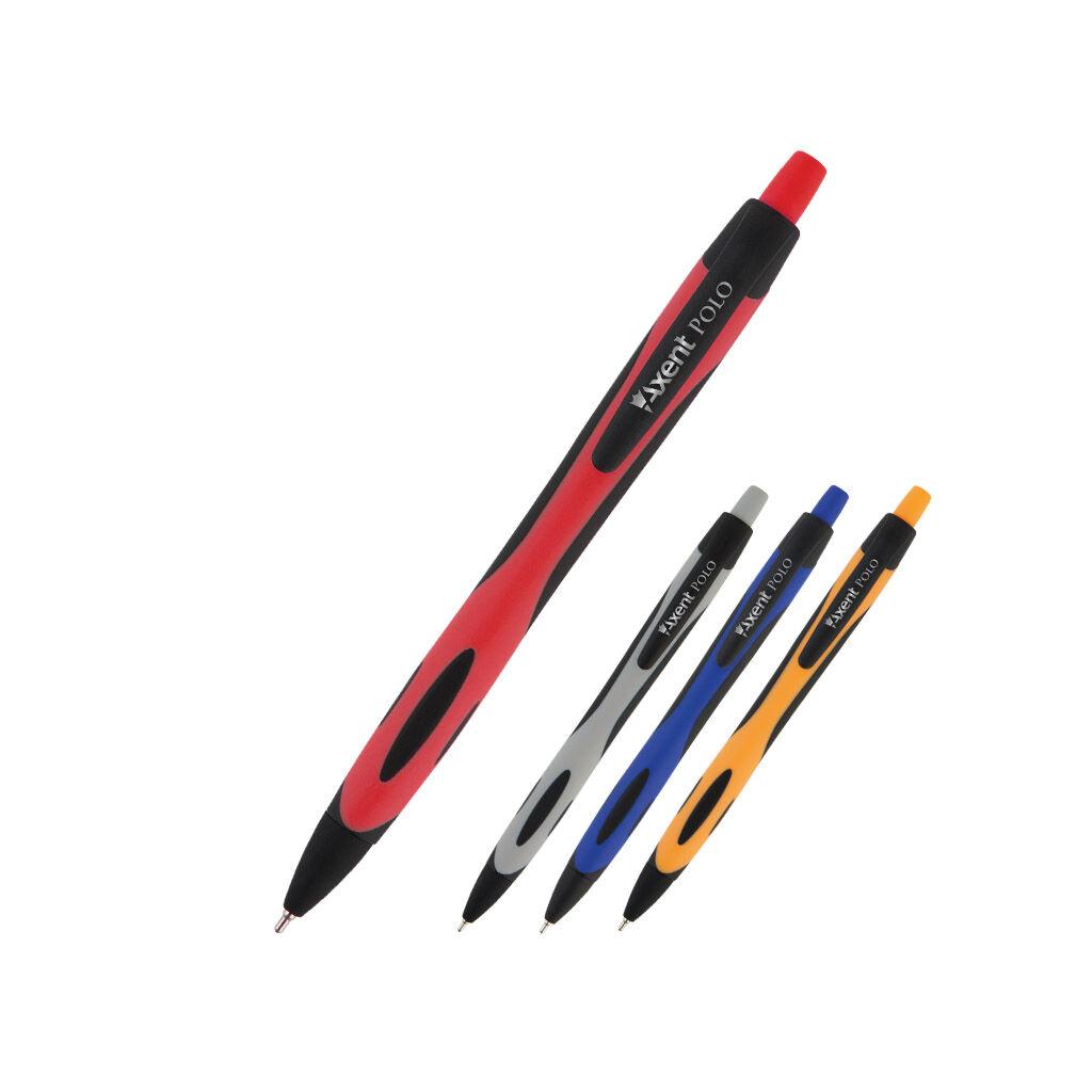 Ручка масляная Axent Polo автоматическая Синяя 0.7 мм (AB1066-02-A)