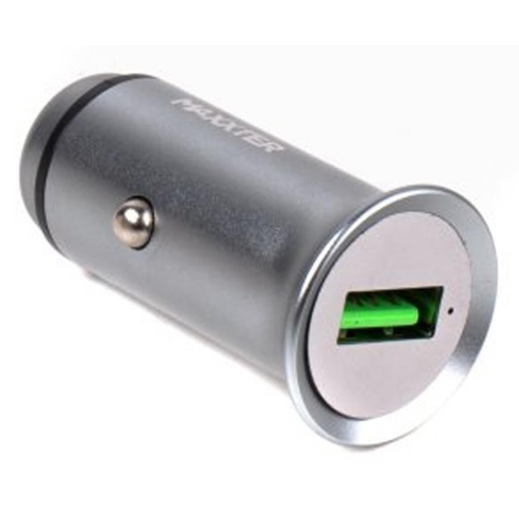 Зарядное устройство Maxxter car QC grey (UCQC-21A)