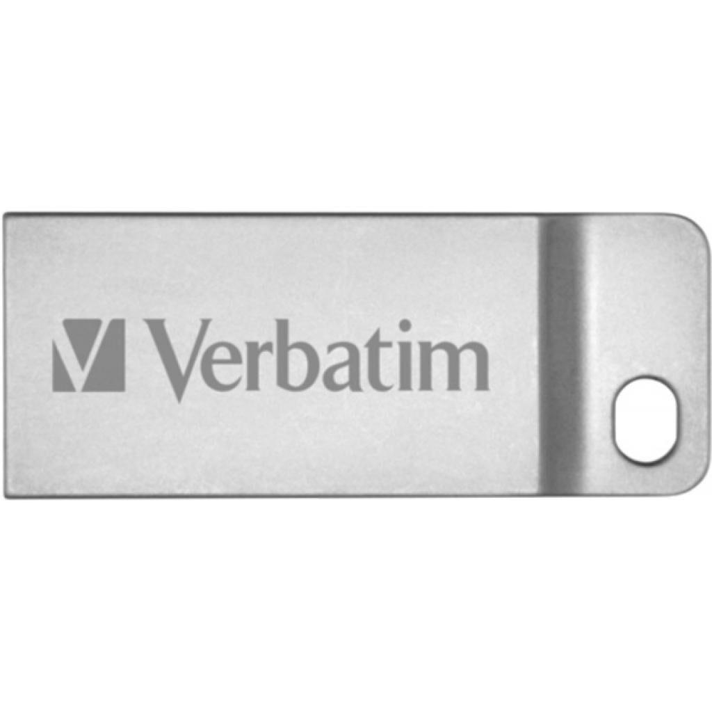 USB флеш накопитель Verbatim 64GB Metal Executive Silver USB 2.0 (98750)