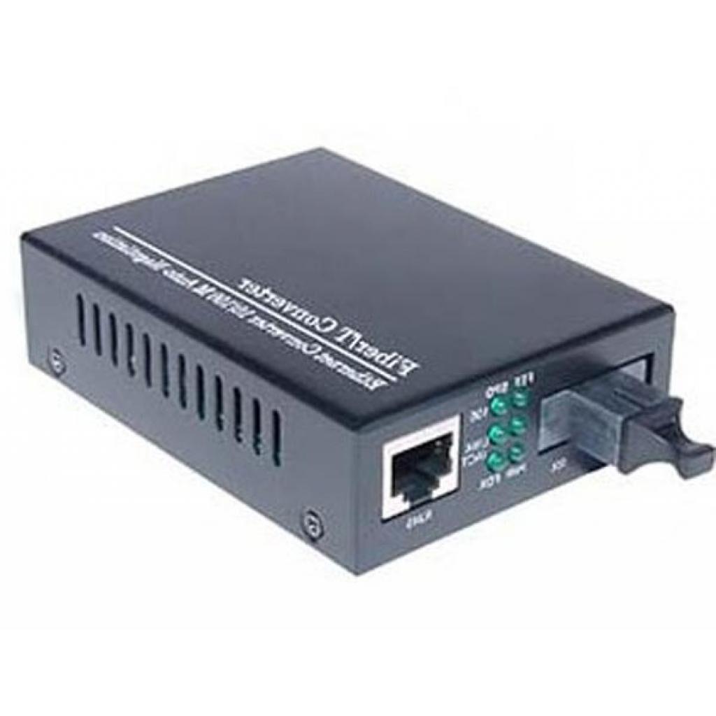 Медиаконвертер Merlion 10/100Base-TX to 100Base-F 1310нм, SM, SC/RJ-45, 25 км + БП (HTB-3100A / 1310_WDM)