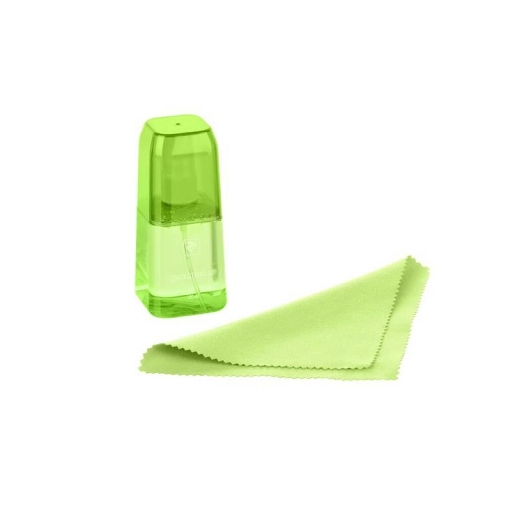 Спрей для очистки 2E 100ml Liquid для LED/LCD +Microfibre Green LUX CLEAN (2E-SKTR100LGR)