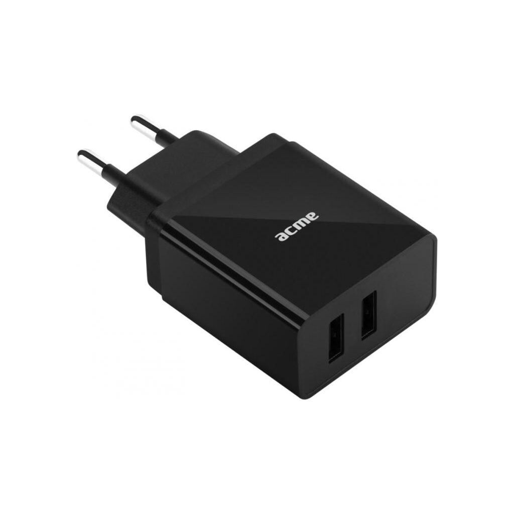Зарядное устройство ACME CH204 2-ports Wall charger, 2.4 A (4770070878866)