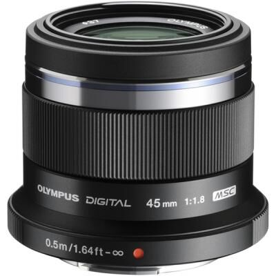 Объектив OLYMPUS ET-M4518 45mm 1:1.8 Black (V311030BE000)