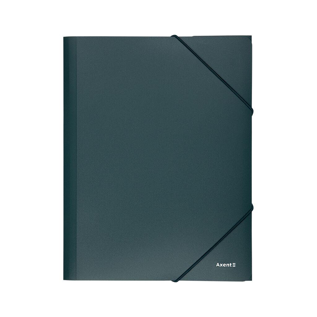 Папка на резинках Axent A4 500 мкм green (1508-05-A)