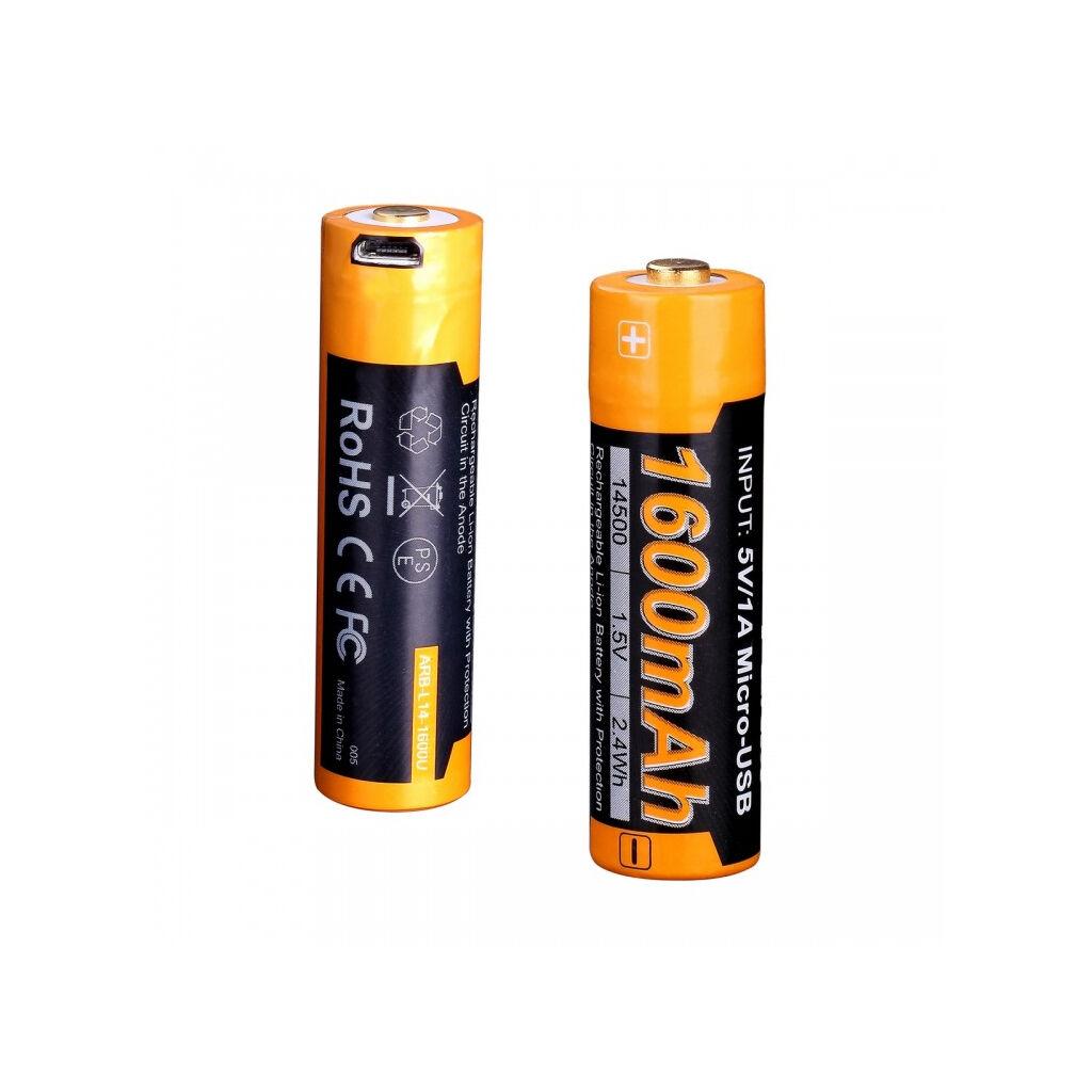 Аккумулятор Fenix 14500 micro usb зарядка (ARB-L14-1600U)