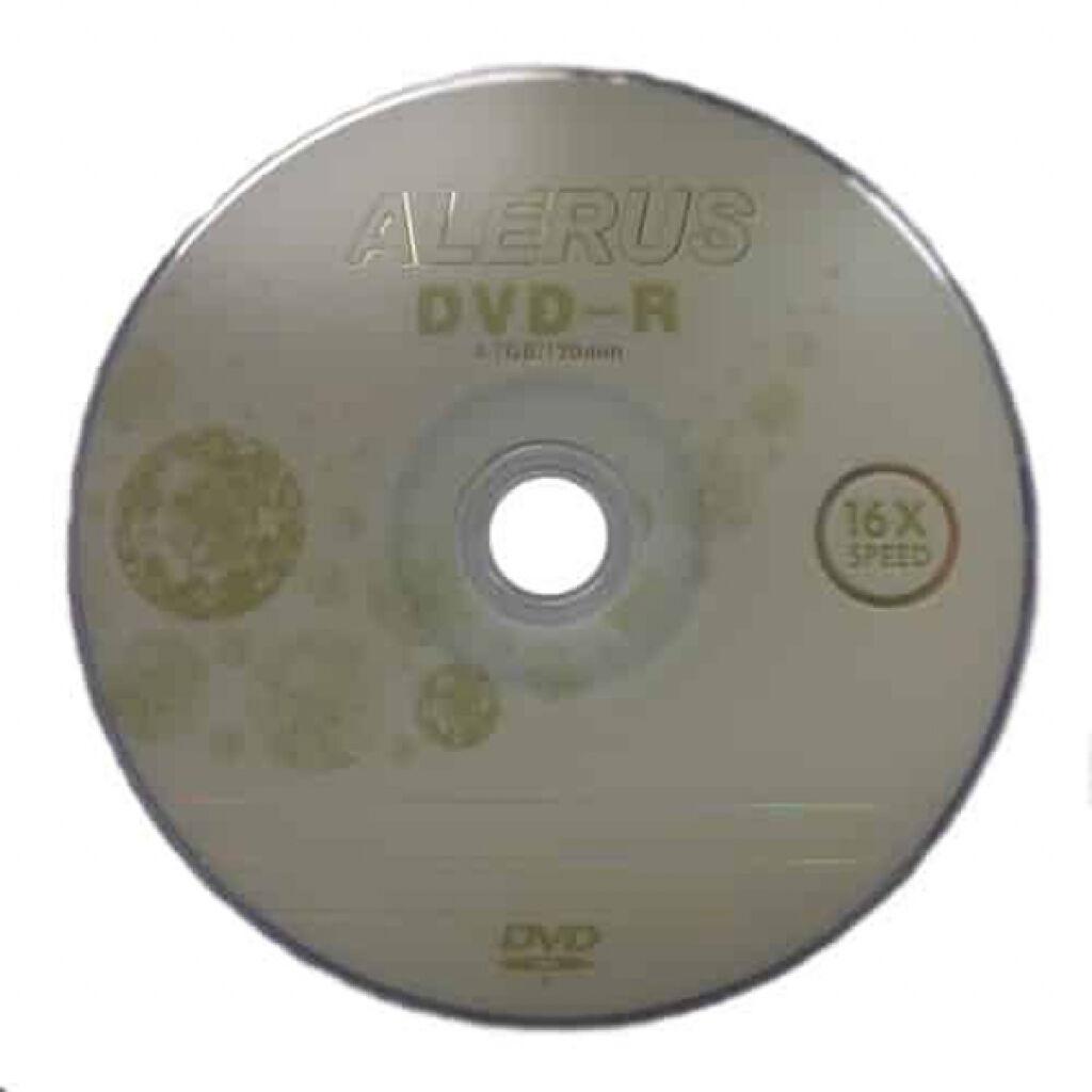 Диск DVD ALERUS DVD+R, 4.7Gb, 50ш (D-DVD+R)