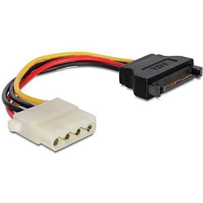 Кабель питания Molex to SATA power 0.15m Cablexpert (CC-SATA-PS-M)