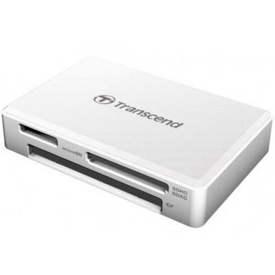 Считыватель флеш-карт Transcend USB 3.1 White (TS-RDF8W2)