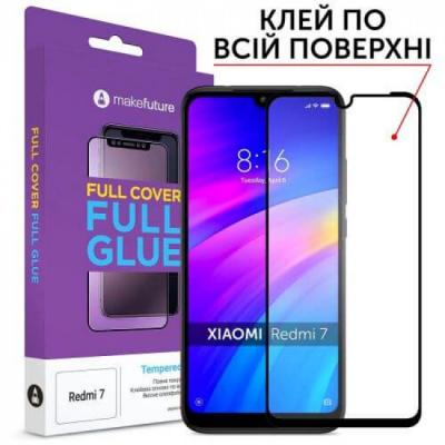 Стекло защитное MakeFuture Xiaomi Redmi 7A Full Cover Full Glue (MGF-XR7A)