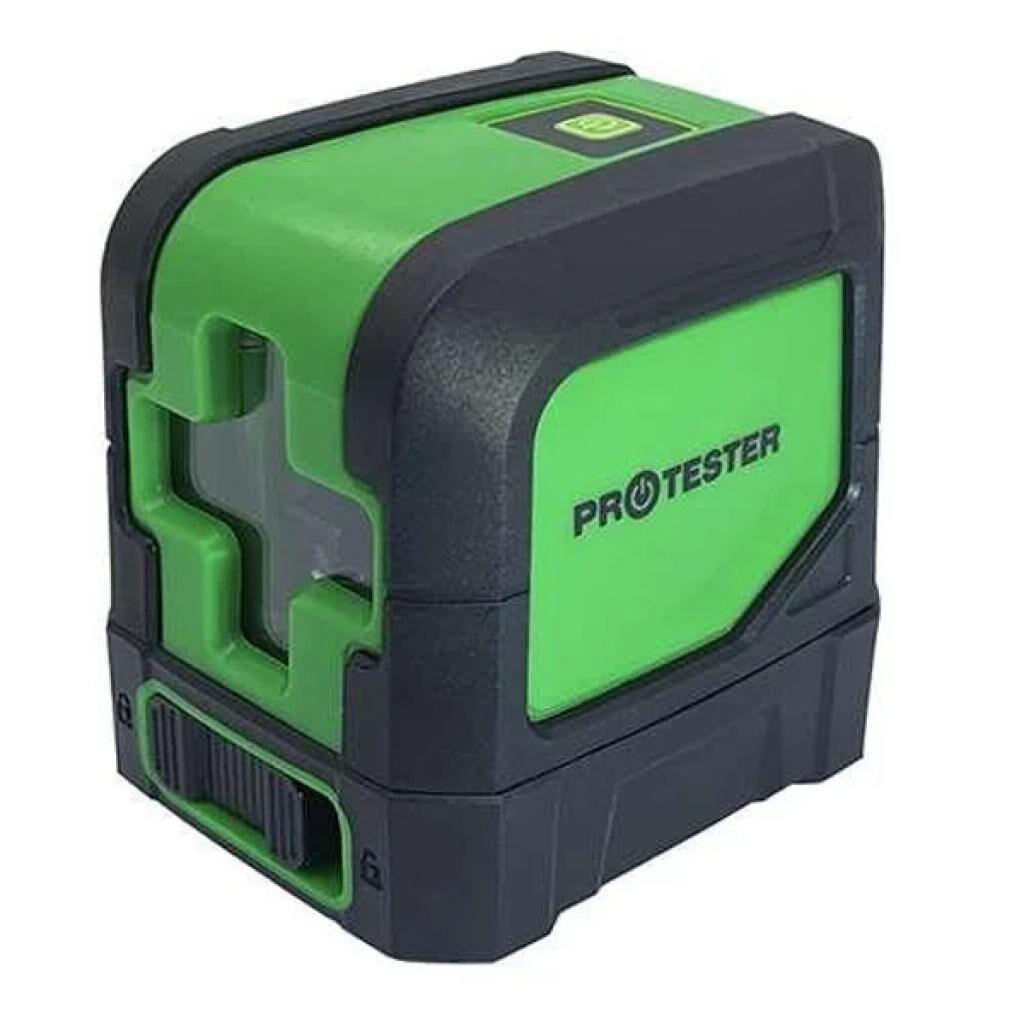 Лазерный нивелир Protester 2 линии, 1H/1V зеленый луч (LL102G)