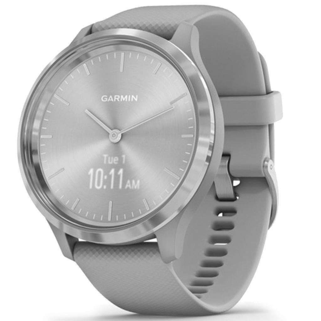Смарт-часы Garmin vivomove 3, S/E EU, Silver, Powder Gray, Silicone (010-02239-20)