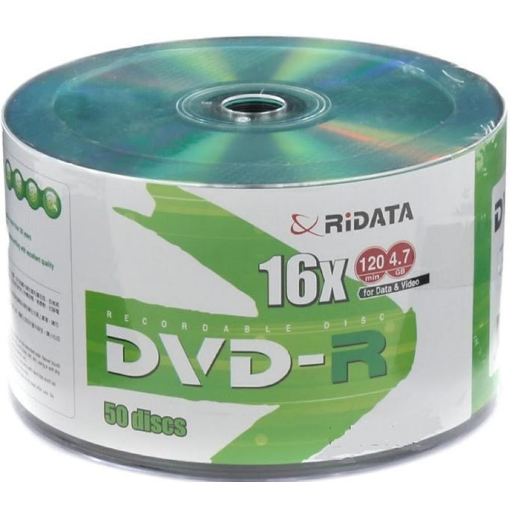 Диск DVD RIDATA 4,7Gb 16x Bulk 50 pcs DVD-R GREEN TOP (907WEDRRDA002)