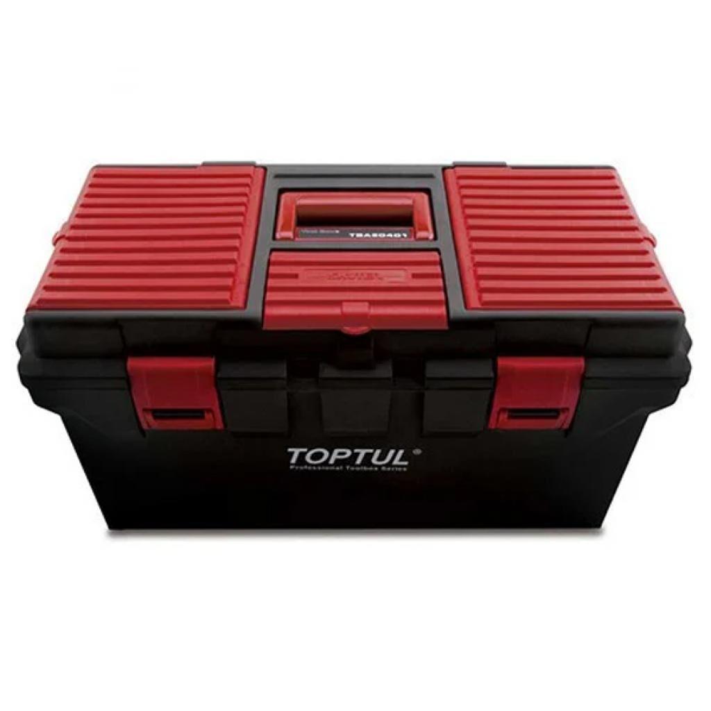 Ящик для инструментов TOPTUL пластиковый 4 секции 556x278x270 (TBAE0401)
