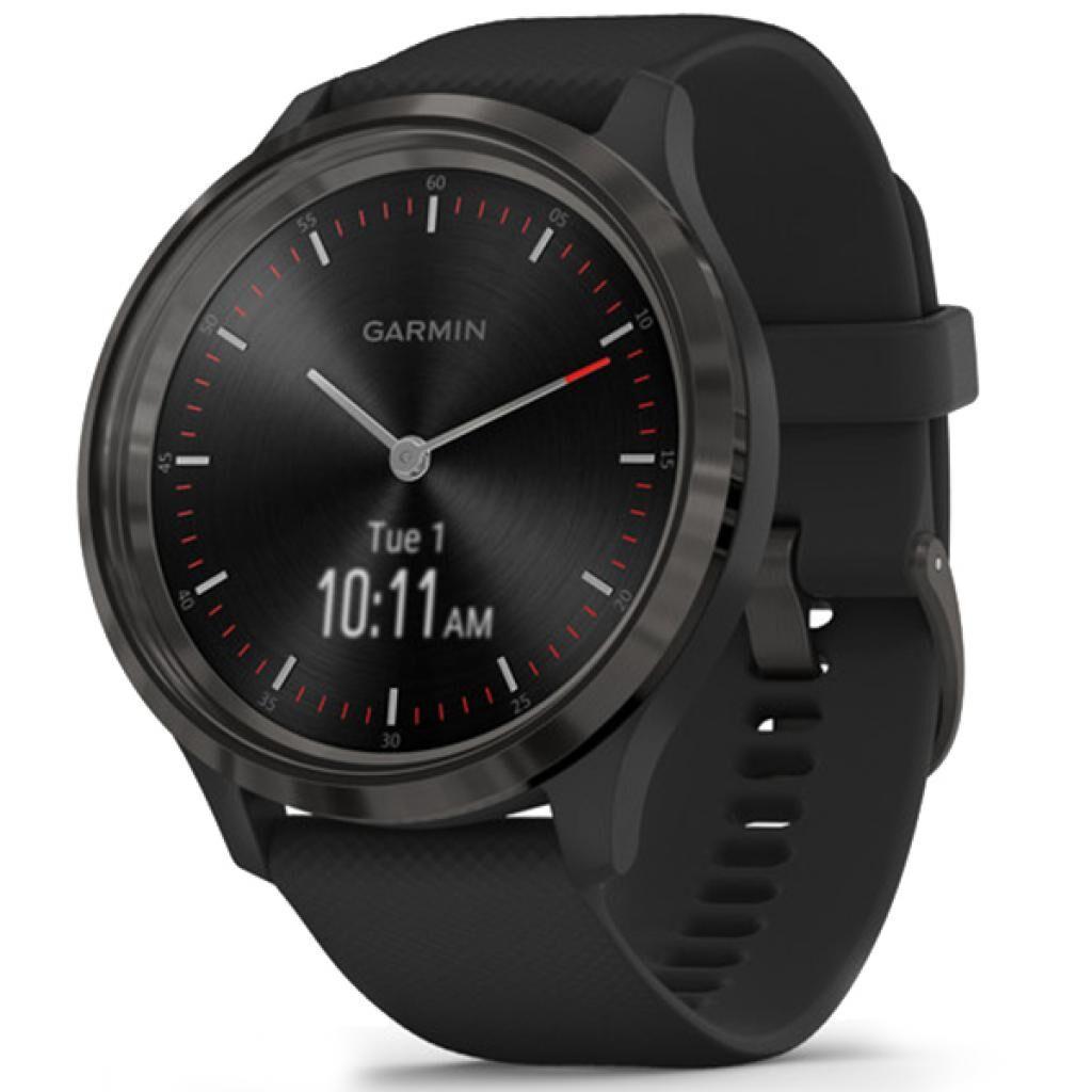 Смарт-часы Garmin vivomove 3, Slate, Black, Silicone (010-02239-21)
