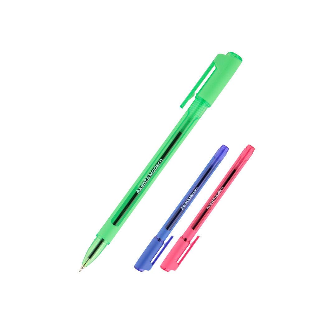 Ручка масляная Axent Modern Синяя 0.7 мм (AB1093-02-A)