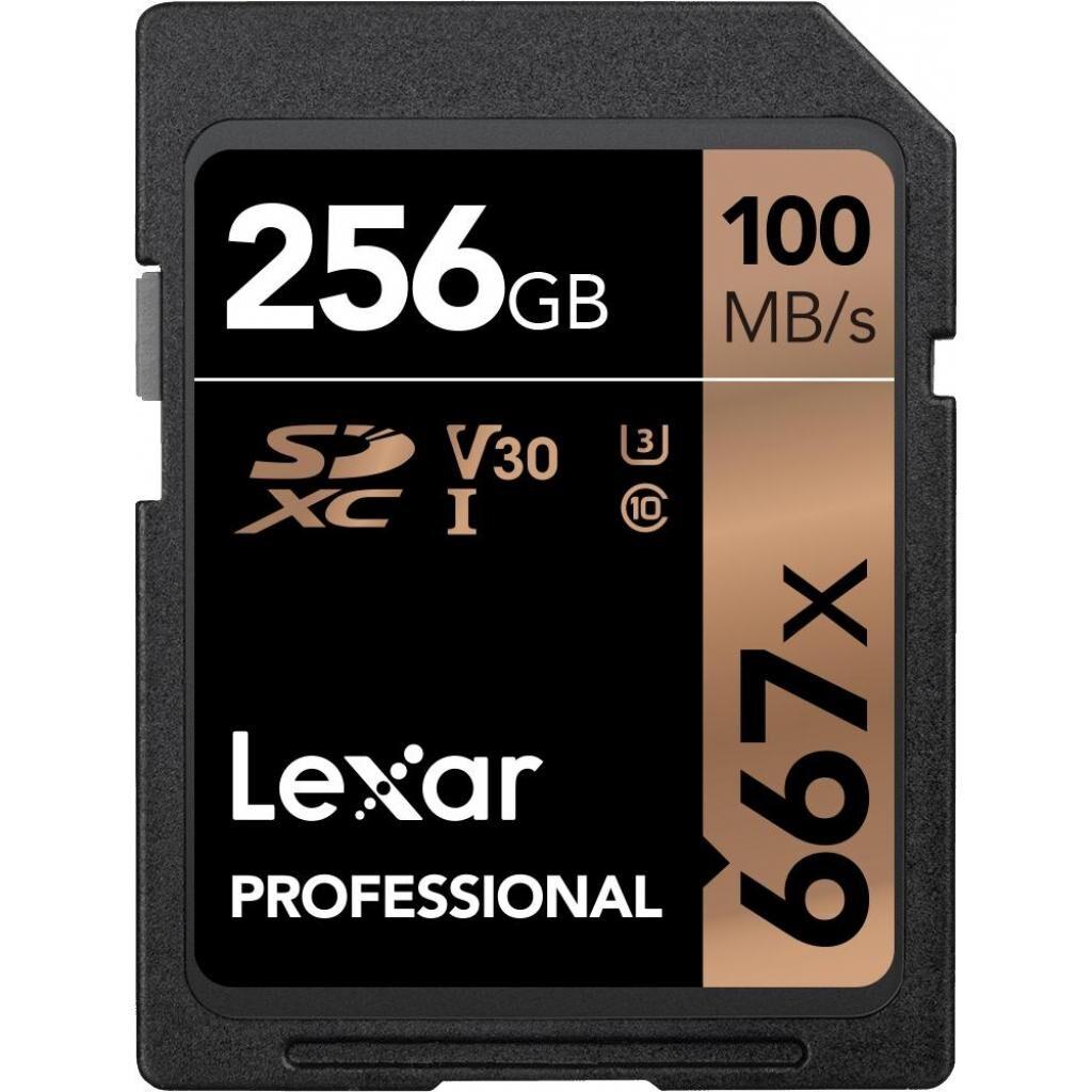 Карта памяти Lexar 256GB SDXC class 10 UHS-I U3 V30 667x Professional (LSD256B667)